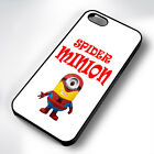 SPIDER MINION SPIDERMAN RUBBER PHONE CASE COVER FITS IPHONE 4 5 6 7 (#BR)