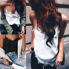 Fashion Women Summer Vest Top Sleeveless Casual Lace Tops Blouse Tank T-shirt