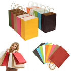 50Pcs Paper Party Bags With Handle For Present Gift Birthday Party Marketable