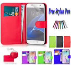 PU Leather Side Book Flip Wallet Case Cover ID Holder For Samsung Galaxy A3 2017
