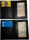 New leather business credit ATM card space 2 IDs 2 zip pockets 1 bill pockt BNWT
