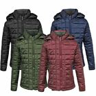 Kids Puffer Quilted Girls Padded Boys Hooded Childrens Puffa Bubble Jacket Coat