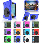 Kids Shockproof Silicone Armor W/ 360 Rotating Stand Case For iPad Mini 1 2 3 4