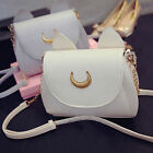 1Pcs new women ladies summer bag chain moon leather shoulder bag small bag