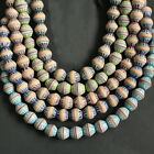 African Beads Recycled Glass Jumbo Bi-cones 20 mm Gorgeous, Excellent Quality