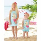 Mud Pie Mermaid Bubble with Contrasting Shoulder Bows