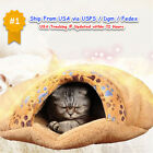 Bed Cat Cave Pet House Dog Soft Nest Sleeping Warm Cozy Wool Large Kitty Kitten