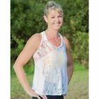 Never Look Back WOMEN'S CHRISTINE LACE TANK TOP, WHITE*Aust Made-Size 8,10 Or 12
