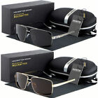 Black Polarized Aviator Men Glasses Outdoor Sports Eyewear Driving UV Sunglasses