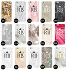 MARBLE GRANITE INITIALS NAME PERSONALISED CUSTOM CASE COVER FOR APPLE IPHONE
