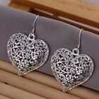*UK STORE* 925 SILVER PLT DROP DANGLE HANGING HOOK EARRINGS HOOP LADIES WOMENS