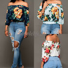 New Spring Summer 2017 Fashion Women Off Shoulder Loose Floral Print Top Blouses
