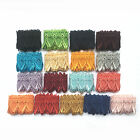 """2"""" Embroidered Pink Lilac Yellow gold Gray Black Blue Red Turquoise Lace Trim"""