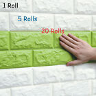 New  20 Rolls 3D Effect Stone Brick Wall Textured Vinyl Self-adhesive Wallpaper