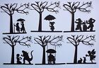 6 FANTASY FAIRY MONSTER GNOMES CHILDREN UNDER A TREE MYTHICAL DIE CUTS