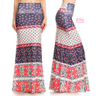 Bohemian Floral Sublimation high waist maxi long skirt (S/M/L/XL/1XL/2XL/3XL)