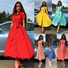 New Summer Women's Casual Long Dress Evening Cocktail Party Dress Beach Sundress