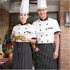 Summer Short Sleeve Double-Breasted Chef Jacket Coat Chef Uniform for Men Women