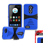 Armor KickStand Hybrid Rugged Case Cover For ( Cricket) ZTE Blade X Max /Z983