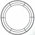 "14"" Round Metal Wreath Frame Ring DIY Macrame Floral Crafts Wire Form Home Decor"