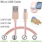 Braided Micro USB Cable Cord Data Charger For Samsung Galaxy S6/S7 Huawei Mate 8