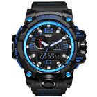SMAEL Men Sport Watch Dual Display Analog Digital LED Electronic Wrist Watches