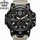 SMAEL Men Sport Watch Dual Display Analog Digital LED Electronic Wrist Watches image