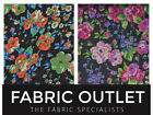 Black Floral Flowers Chiffon Lingerie Fabric Sewing Skirts Dress Summer Scarf