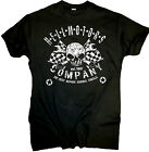 Biker T-Shirt Chopper Rockabilly Hot Rod Old School V8 Rocker Skull Wrench Black