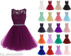 Plus Size UK 6-30 Applique  Bridesmaid Dress Evening Cocktail Homecoming Gown