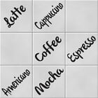 Coffee Words Vinyl Wall Tile Transfer Stickers Decals Kitchen Home Decor