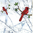 Clr:wnd - Cardinal Bird Stained Glass Style Vinyl Window Decal ©yydc Choose Size