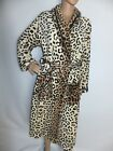 NEW LADIES LUXURY SUPER SOFT FLEECE LEOPARD PRINT BATH/ROBE BROWN.BEIGE S M L XL
