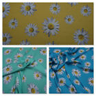 Sunflowers Printed Satin Fabric Costumes Bridal Dress Ball Gown Clothes Summer