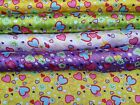 Hearts Printed Satin Kids Dresses Costumes Dress Frocks Crafts Summer Fabric