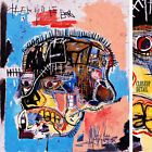 """26Wx30H"""" HEAD SKULL 1981 by JEAN-MICHEL BASQUIAT Small Repro - CHOICES of CANVAS"""