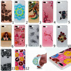 For iPhone 7 plus Butterfly Flower Pattern Soft Skin Protective Slim Case Cover