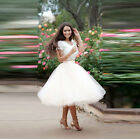 S-5XL TUTU Tulle White Short Party Skirts Women Ladies Prom Skirt Custom Color
