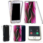 Shockproof 360° Silicone Clear case cover for many mobiles - pink twisted