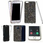 Shockproof 360° Silicone Clear Case Cover For many mobiles - marble design 327