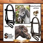 NEW! SHETLAND/SMALL PONY SIZE ENGLISH BRIDLE WITH REINS ~ BLACK OR BROWN LEATHER