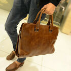 Men's Portfolio Business Case Briefcase PU Leather Shoulder Messenger Laptop Bag