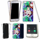 360° Silicone gel full body Case Cover for many mobiles - obsidian.