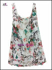 Quirky Lagenlook Cotton Floral 2 Pocket Italian Sleeveless Tunic Dress 5 Colours