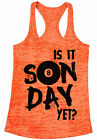 Is It Sunday Yet Billiards Womens Burnout Racerback Tank Tops Game Day Fun Quote $16.95 USD on eBay