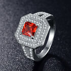 SIZE 6-9 Unisex High Quality Fashion Ring Ruby Color AAA Cubic Zirconia