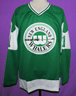 AL SMITH WHA NEW ENGLAND WHALERS RETRO HOCKEY JERSEY GREEN SEWN NEW XS 5XL