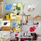 Decal DIY Home Room Art Mural Décor Love Hearts Wall Sticker Removable 3D Mirror