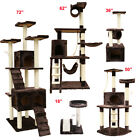 Cat Tree Tower Condo Furniture Scratch Post Kitty Play House Brown Pet Bed Toy