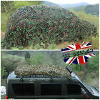 New Camouflage Net Hunting Shooting Camping Woodland Camo Netting Hide Army UK